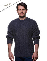 Merino Wool Diamond Sweater Mens - Derby