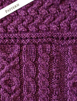 Pattern Detail of Women's Keyhole Crew Neck Sweater