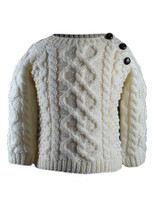 Baby/Toddler Side-Fastening Sweater - Natural White