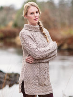 Wool Cashmere Aran V-neck Cardigan - Wicker