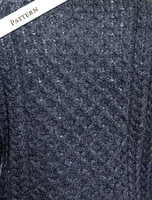 Pattern Detail from Merino Aran Turtleneck Sweater