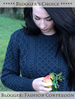 Bloggers Choice: Heavyweight Merino Wool Aran Sweater - Fashion Confession - Navy