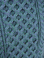 Pattern Detail of Heavyweight Merino Wool Aran Sweater