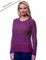 Lambay Aran Sweater for Women - Heather