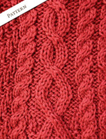 Pattern Detail of Button Merino Aran Cardigan Cable Knit