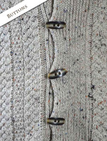 Button Detail of Men's Shawl Neck Cardigan