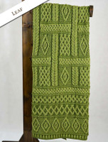 Two-Tone Aran Pleated Throw - Grass