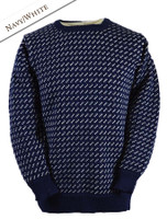 Pattern Detail of Norwegian Sweater for Women - Navy/White