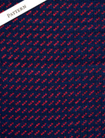 Pattern Detail of Norwegian Sweater for Women - Navy/Red