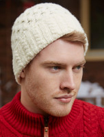 Wool Cashmere Aran Honeycomb Hat