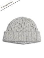Wool Cashmere Aran Honeycomb Hat - Chalkstone