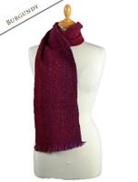 Aghadoe Wool Scarf - Burgundy