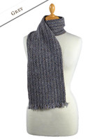 Aghadoe Wool Scarf - Grey