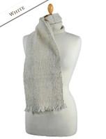 Aghadoe Wool Scarf - White