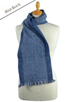 Mangerton Wool Scarf - Mid Blue