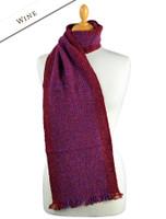Mangerton Wool Scarf - Wine