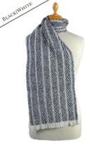 Torc Wool Scarf - Black White