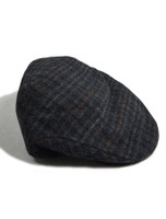Trinity Tartan Flat Cap - Black