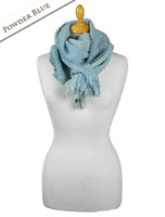 Infinity Wool Scarf - Powder Blue