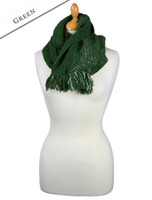 Infinity Wool Scarf - Green