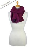 Infinity Wool Scarf - Burgundy