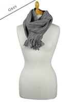 Infinity Wool Scarf - Grey