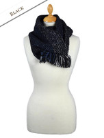 Infinity Wool Scarf - Black