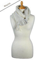 Infinity Wool Scarf - White