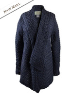 Waterfall Cable Cardigan - Navy Marl