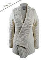 Waterfall Cable Cardigan - Natural White