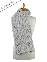 Men's Wool Cashmere Honeycomb Scarf - Chalkstone