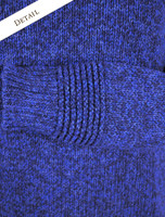 Sleeve Pattern Detail from Crew Neck Sweater with Ribbed Details