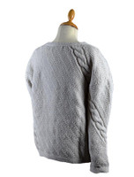 Cable and Float Stitch Boat Neck Sweater - Back Detail