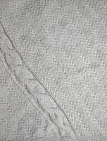 Cable and Float Stitch Boat Neck Sweater Detail