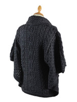 Back Detail of Shawl Neck Aran Batwing Jacket