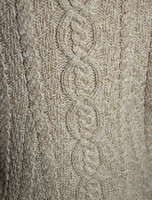 Pattern Detail of Large Collar Aran Coat