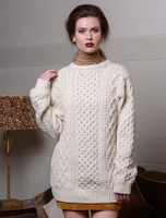 Women's Oversized Wool Cashmere Aran Sweater