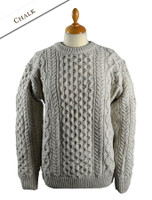 Women's Oversized Wool Cashmere Aran Sweater - Chalkstone