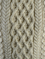Pattern Detail of Lattice Cable Aran Sweater