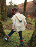 Kids Aran Hooded Poncho
