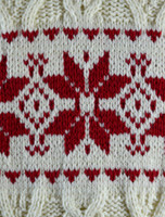 Pattern Detail of Winter Fair Isle Zip Aran Cardigan