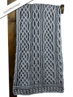 Plaited Aran Throw - Grey/Soft Grey