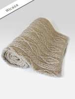 Aran Merino Diamond Throw - Wicker