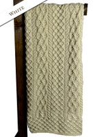 Merino Aran Throw - White