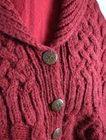 Premium Handknit Fleece Lined Buttoned Cardigan - Detail