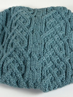 Aran Two-Tone Snood Scarf - Detail