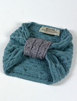 Aran Two-Tone Snood Scarf - Detail and Label