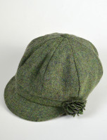 Ladies Shannon Newsboy Hat - Light Green