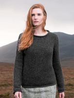 Womens Roll Neck Sweater - Greystone