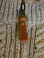 Kid's Zip Neck Aran Merino Wool Sweater - Zip Detail